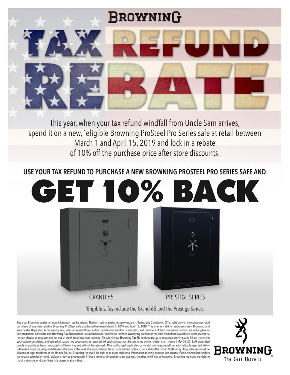 Browning Safe Tax Refund Rebate - The Safe House Nashville, TN
