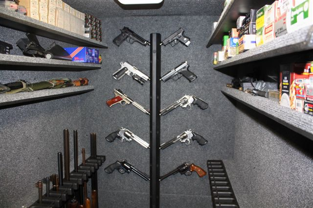 Our Storm Shelters can also be used as a Walk in Gun Safe