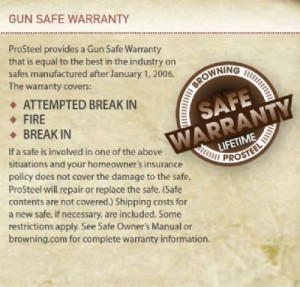 Browning Safe Warranty