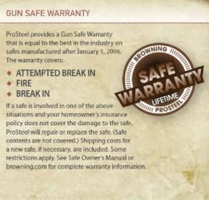 Browning Safe Warranty