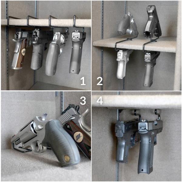 Gun Storage Solutions Back Over Handgun Hangers 2 Pak