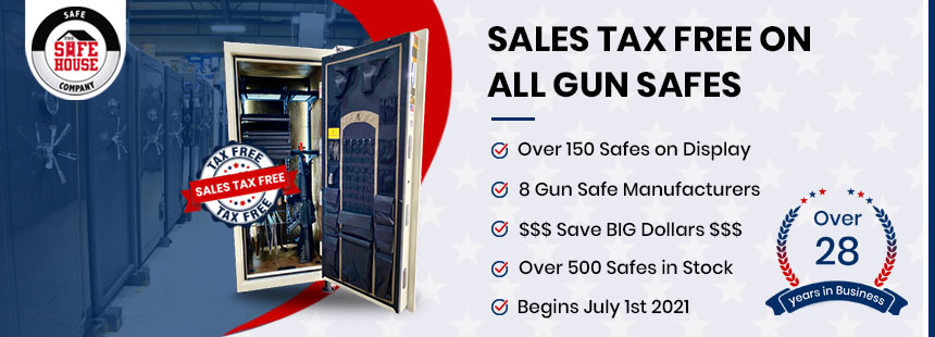 Gun Safes Tax Free Promotion